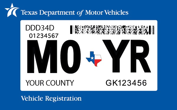 generic registration sticker